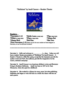 Readers Theater:  Stellaluna by Janell Cannon