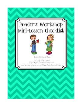 Reader's Workshop Minilesson Checklist