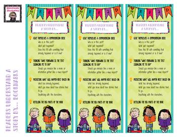 Readers Workshop- Reader's Understand A Story Bookmark
