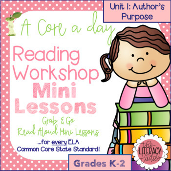 A Core a Day: Reader's Workshop Minilessons- Unit 1: Autho