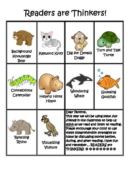 Readers are Thinkers: Primary Comprehension Strategies Printables