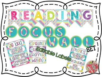 Colorful Reading Focus Wall Set Banners & Labels
