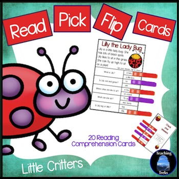 Reading Comprehension Passages: Bugs Clip Cards for Readin