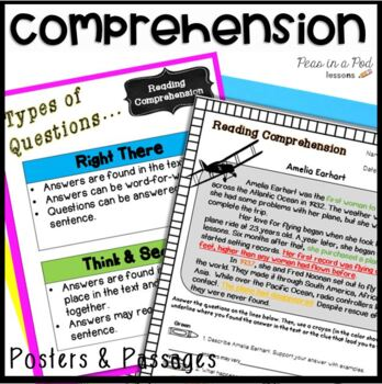 Reading Comprehension Passages  Strategies, Worksheets, Ac