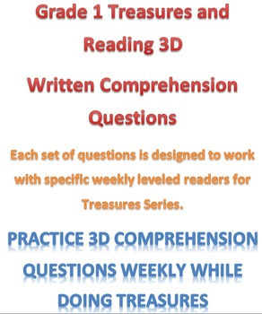 Mclass Reading 3D Written Comprehension Questions for Trea
