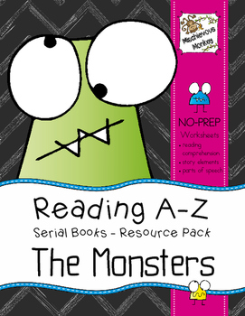 Reading A-Z Serial Books Resource Pack - The Monsters