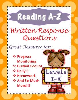 Reading A-Z Written Response I-K