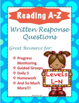 Reading A-Z Written Response L-N