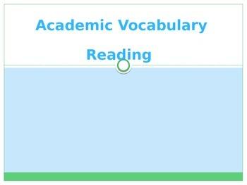 Reading Academic Vocabulary Powerpoint TEKS/STAAR/CC Aligned