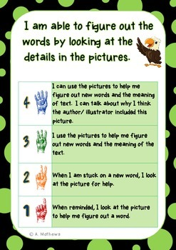Reading Accuracy/ Decoding Strategies- Learning Goals and