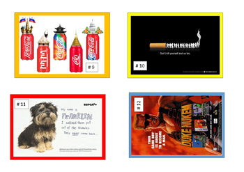 Reading -Advertising Task Cards