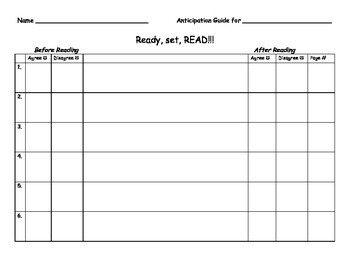 Reading Anticipation Guide & Finding Text Evidence