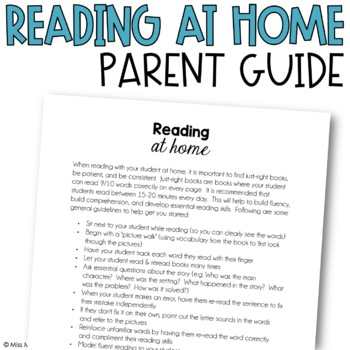 Reading At-Home Parent Guide