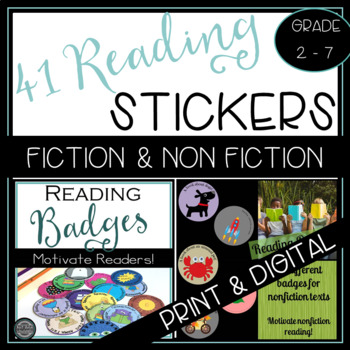 Reading Badge Bundle for Fiction and Nonfiction