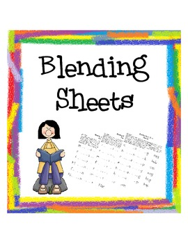 Reading Bag Blending Sheets