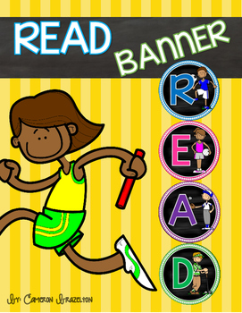 Reading Banner Classroom Decoration Bulletin Board Sports Theme