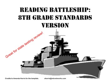 Reading Battleship Test Prep Review Game (8th grade CCSS/G