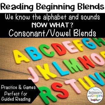 Reading Beginning Consonant Vowel CV Blends