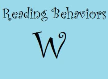 Reading Behaviors Level W