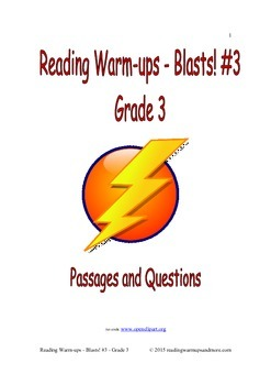 Reading Warm-ups - Blasts! #3 - Grade 3 - Passages and Questions