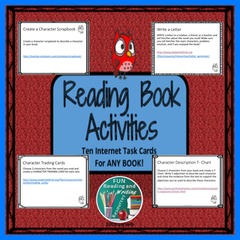 Reading Book Activities - Internet Task Cards