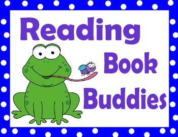 Reading Book Buddies Label or Sign