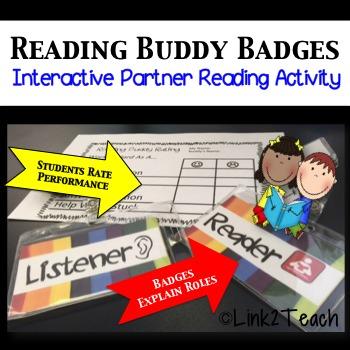 Partner Reading Activity: Reading Buddy Badges