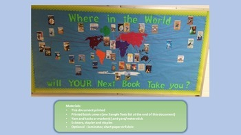 Reading Bulletin Board - Where in the World Will YOUR Next