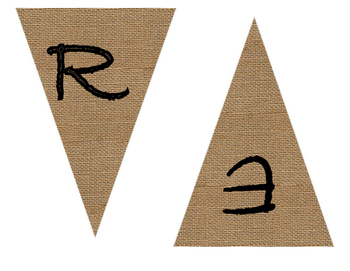 Reading Cafe Burlap Banner