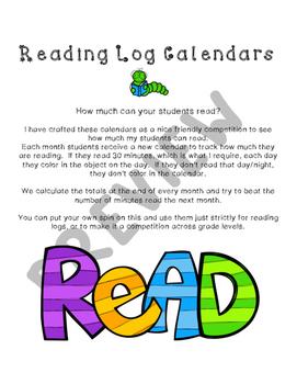 Reading Calendar Logs & Behavior Tracker Bundle