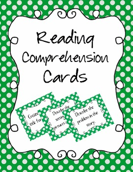Reading Cards (comprehension cards)