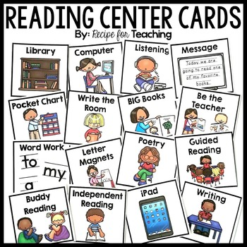 Reading Center Cards