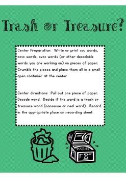 Reading Center: Decoding CVC CVCE Words