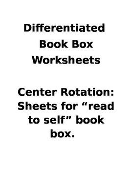 Reading Center Differentited Activity Worksheet