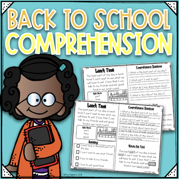 Read, Comprehend, Retell, & Illustrate Back To School Edition