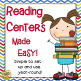 Reading Centers Made Easy!  Rainbow/Kid Themed Grades 1 -