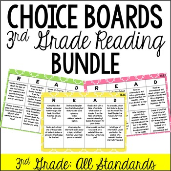 Reading Choice Boards (3rd Grade: Literature and Informational)