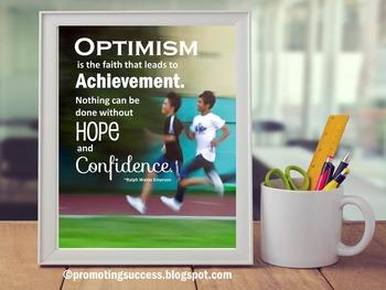 Optimism Quote by Ralph Waldo Emerson Teacher Classroom De