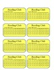 Reading Club Punchcards