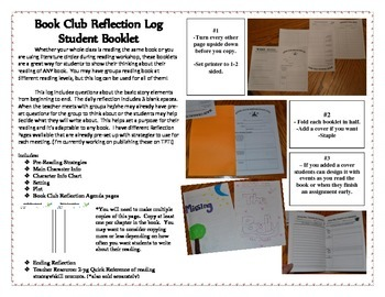 Reading Group Response Booklet - Blank Agendas for Any Cha