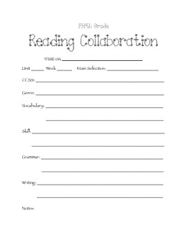 Reading Collaboration Form
