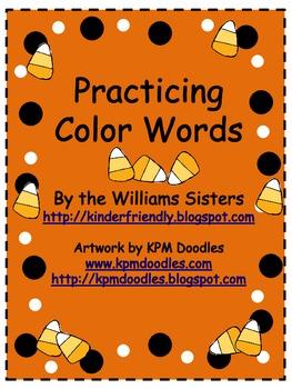 Reading Color Words Halloween Fun!