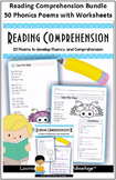 Reading Comprehension Bundle - 50 Phonics Poems with Worksheets
