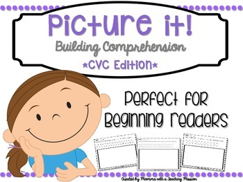 Reading Comprehension Printables CVC Edition