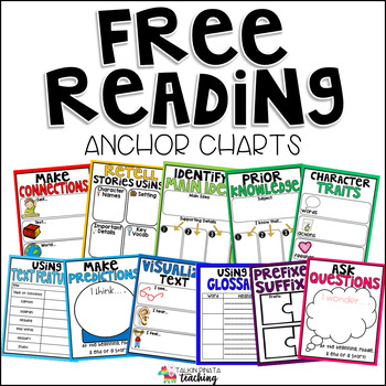 FREE Reading Anchor Charts by Talkin Pinata