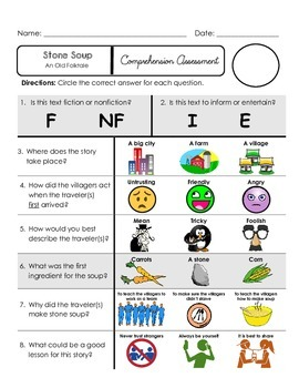 Reading Comprehension Quiz [High Level Questions] STONE SOUP