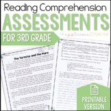Reading Comprehension Tests 3rd Grade