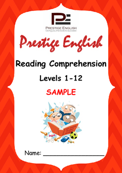 Reading Comprehension Book - Levels 1-12 - FREE SAMPLE ( F