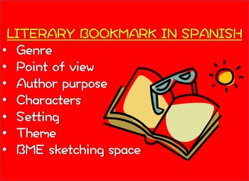 Reading Comprehension Bookmark in SPANISH