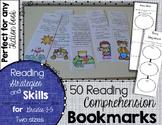 .Reading Comprehension Bookmarks